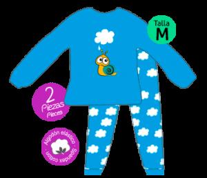 caracol pijama bichojitos azul