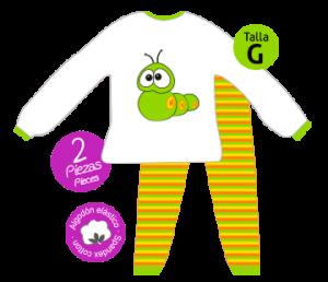 gusano pijama bichojitos